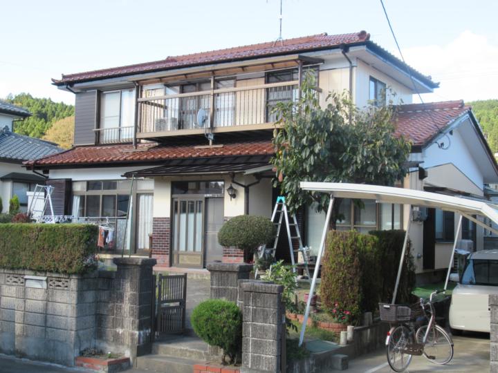 宮城県柴田郡柴田町で外壁の塗装工事をしました。