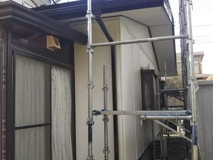 破風板・軒樋塗装