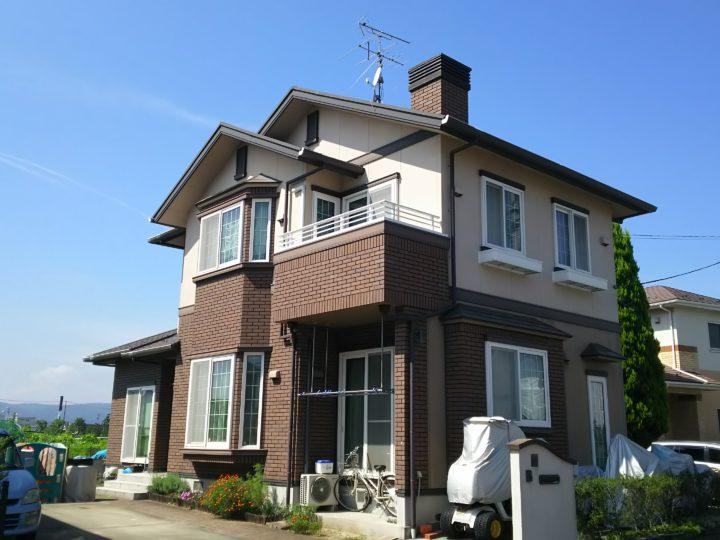岩沼市で屋根・外壁塗装工事をしました。