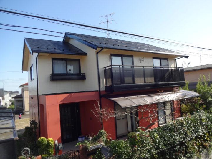 亘理町で屋根と外壁の塗装工事をしました。