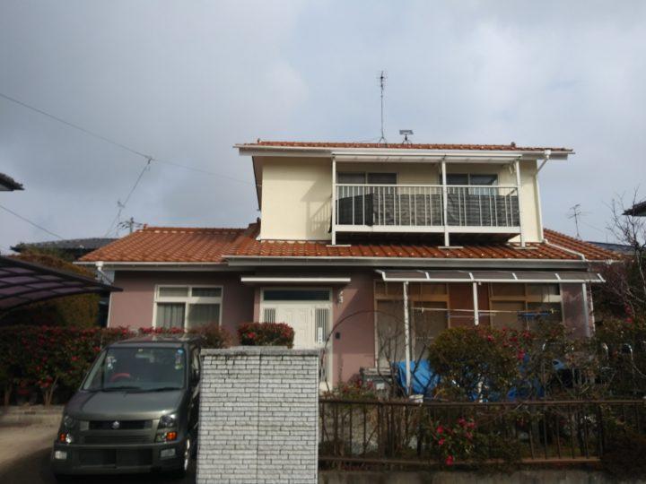 柴田町で瓦補修と外壁塗装をしました。