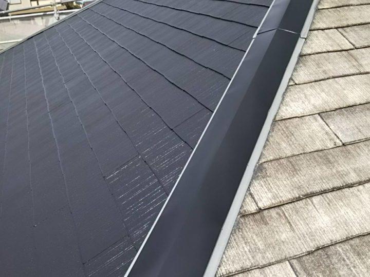 宮城県岩沼市 コロニアルの屋根塗装 下塗りから上塗りまで