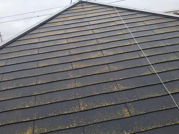 屋根の洗浄前です。