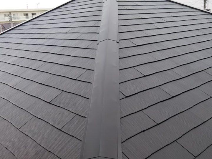 屋根の中塗り・上塗り