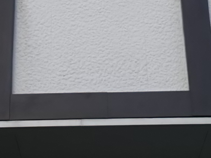 角田市で帯板の板金工事をしました。