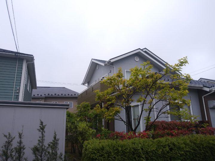 宮城県名取市で屋根と外壁の塗装工事をしました。