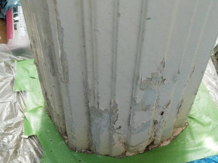 玄関柱の補修