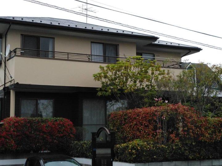 名取市で屋根・外壁塗装・雨樋交換工事をしました。
