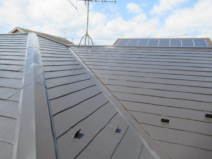屋根の仕上がり