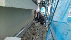 柴田郡外壁塗装養生1