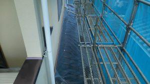 柴田郡外壁塗装養生